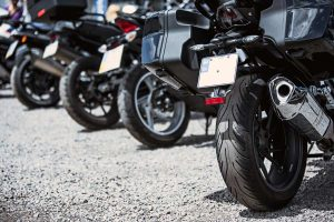 Motos aparcadas